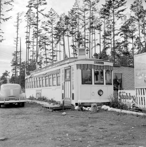 """The Willows No. 9 streetcar converted to a diner; Langford."" RBCM&A/ D-07564."