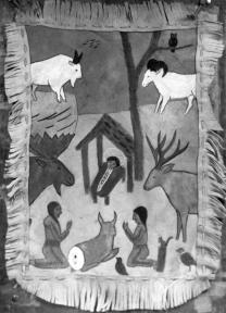 """A First Nations rendering of the Nativity story."" Image I-61883/RBCM&A"