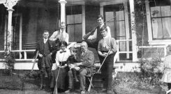 Unidentified group photographed by Phyllis Munday, circa 1910. BC Archives.