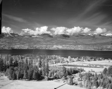 "BC Archives. Item I-71045. ""View from Denman forest lookout SW shot 6."""