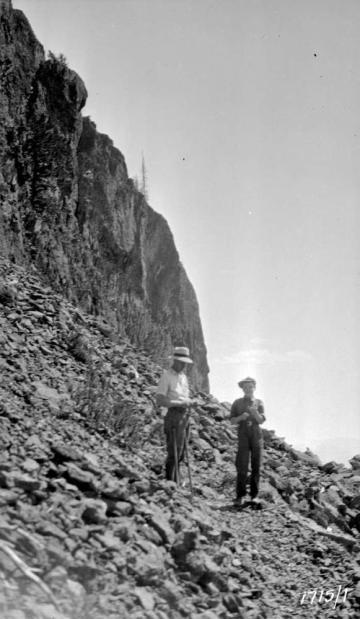 "BC Archives. Item NA-05527. ""Forest Service trail to Goat Mountain lookout."""