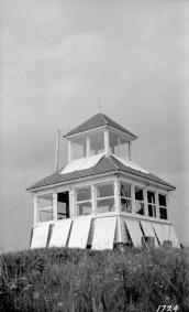 "BC Archives. Item NA-05537. ""Forest Service Casey Mountain lookout."""