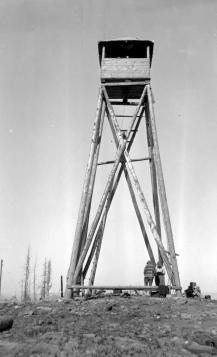 "BC Archives. Item NA-05590. ""Forest Service Goat Mountain lookout."""