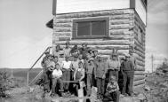 "BC Archives. Item NA-06506. ""Forest Service group of young rangers on their way to the Boer Mountain lookout."""