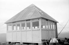 "BC Archives. Item NA-09144. ""Forest Service Nelson district prefabricated lookout."""