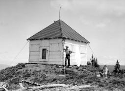 "BC Archives. Item NA-10841. ""Forest Service Mobley Mountain lookout."""