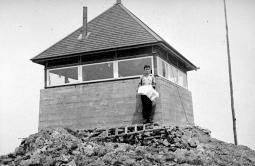 "BC Archives. Item NA-11069. ""Forest Service Greenhouse Mountain lookout."""